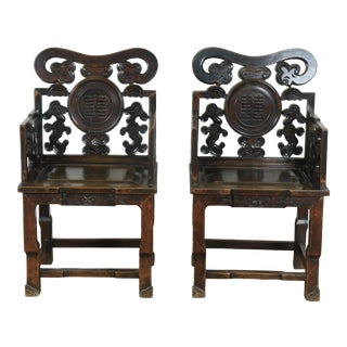 Antique Oriental Chinese Chairs For Sale