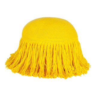 Joni Fringed Pillow in Yellow For Sale