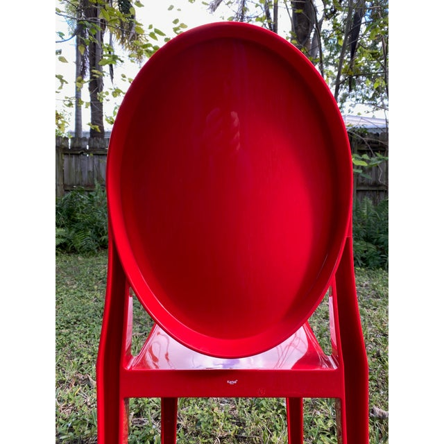 Kartell Victoria Ghost Chair A classic line chair with a rounded back that recalls the shape of old medallions, while the...