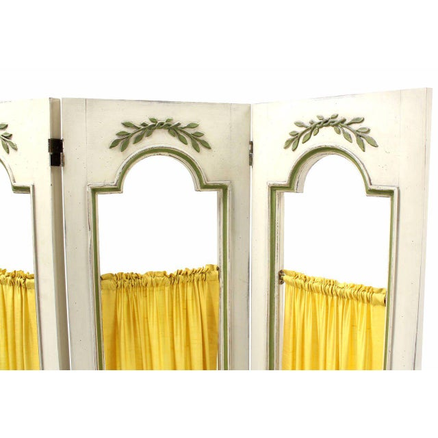 Very nice French provincial style room divider screen, circa 1960s