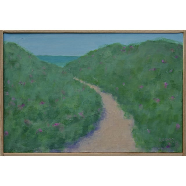 """Path Through the Beach Roses"" Contemporary Painting by Stephen Remick For Sale - Image 10 of 11"