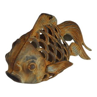 Cast Iron Koi Carp Fish Lantern For Sale