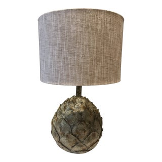 Rustic Jamie Young Canvas Shade Table Lamp For Sale