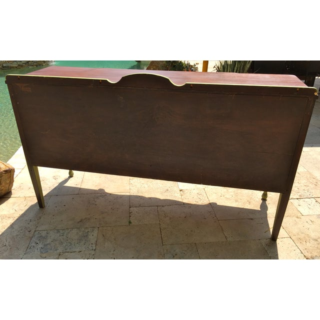 Vintage Green Milk Paint Buffet Sideboard Credenza For Sale - Image 11 of 11