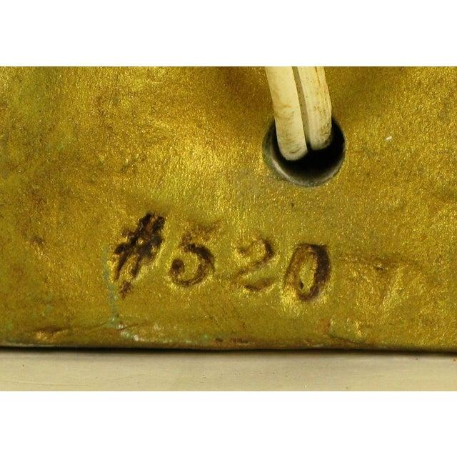 Confucius Gilt Metal Table Lamp - Image 8 of 9