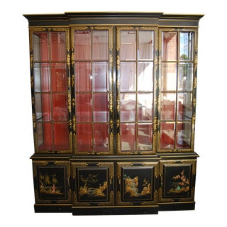 20th Century Chinoiserie Painted Wooden Cabinet For Sale