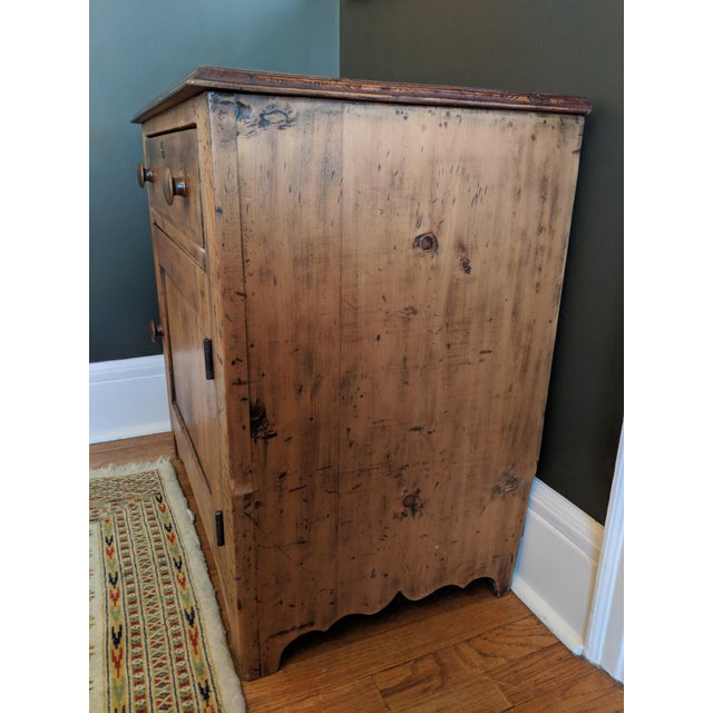 Antique Pine Cabinet For Sale - Image 4 of 13 - Antique Pine Cabinet Chairish