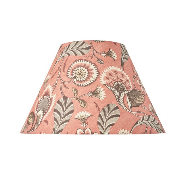Early 21st Century Schumacher Ursula Linen Lampshade in Document For Sale - Image 5 of 5