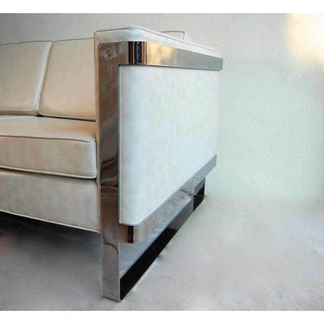 Milo Baughman Chrome Sofa - Image 6 of 6