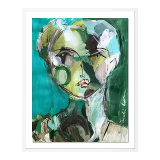 Bryn by Leslie Weaver in White Framed Paper, Small Art Print For Sale