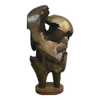 MCM Abstract Italian Bronze Sculpture For Sale