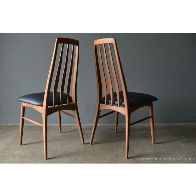 """1960s Vintage Koefoed of Denmark Walnut High Back """"Eva"""" Dining Chairs - Set of 8 For Sale In Los Angeles - Image 6 of 12"""