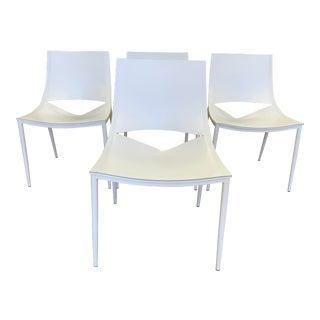 Modloft Marcelo Ligieri Sloane White Dining Chairs- Set of Four For Sale