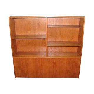 Mid 20th Century Modern Teak Book Shelf With Storage For Sale