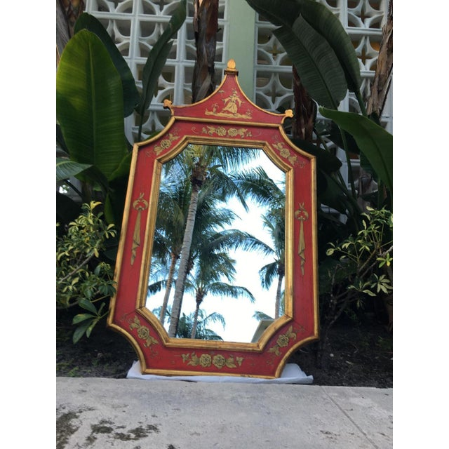 Vintage Florentine Pagoda Mirror For Sale In Miami - Image 6 of 6