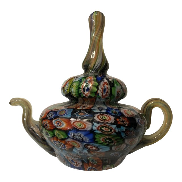 Murano Milleflora Teapot Paperweight For Sale