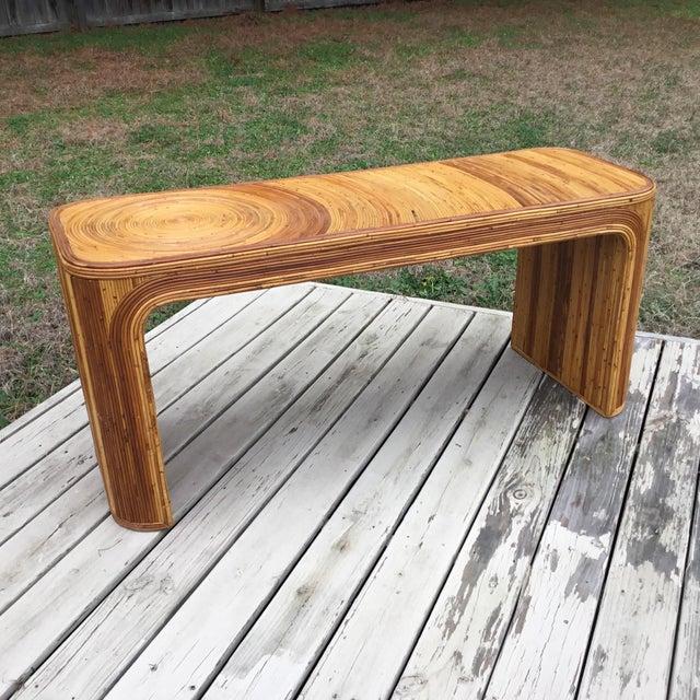 Gabriella Crespi Gabriella Crespi Pencil Reed Console Table For Sale - Image 4 of 6