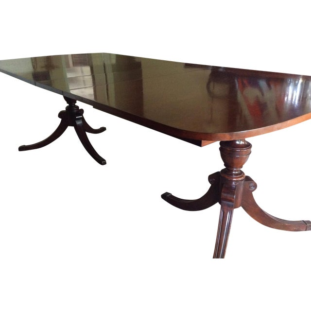 Duncan Phyfe Mahogany Dining Table - Image 1 of 6