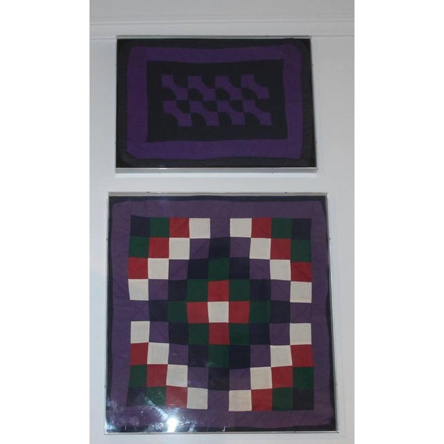 Late 19th Century Collection of Four Rare Pennsylvania Amish Doll Quilts For Sale - Image 5 of 8