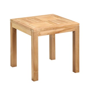 Outdoor Teak Side Table For Sale