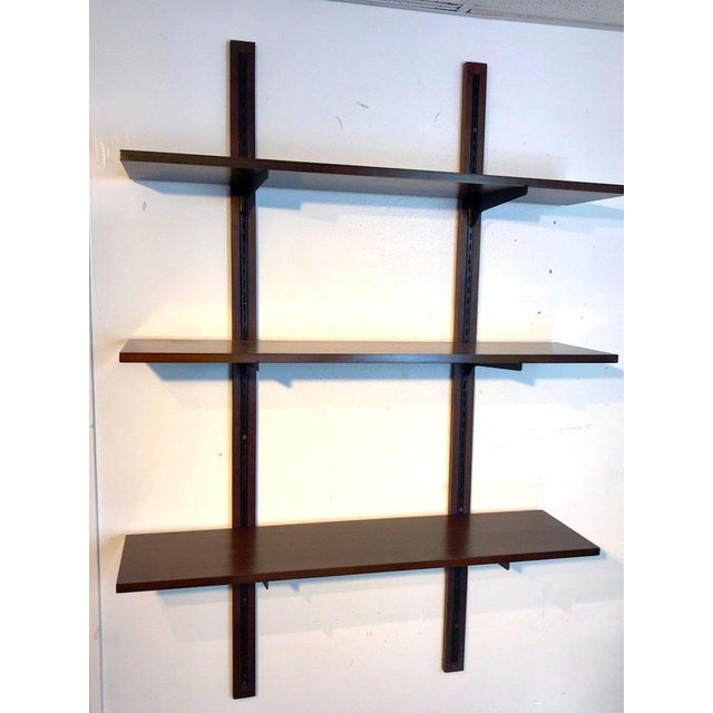 Mid 20th Century Danish Modern Rosewood Adjustable Shelves For Sale - Image 5 of 12