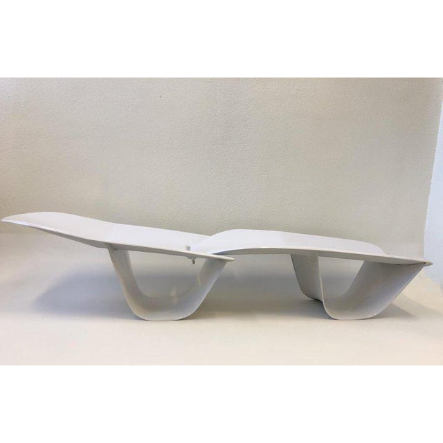 Set of Three Fiberglass Lounge Chases by Po Shun Leong For Sale - Image 9 of 12