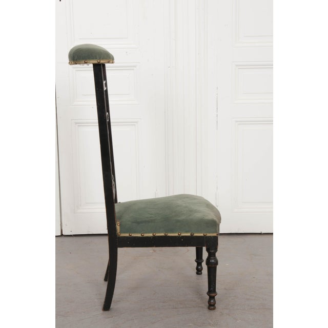 French 19th Century Upholstered and Ebonized Prie Dieu For Sale - Image 9 of 13