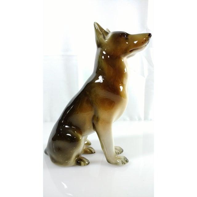 Country Royal Dux Bohemia Czech German Shepherd Figurine For Sale - Image 3 of 8