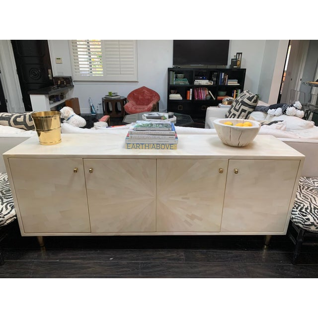 2010s Made Goods Faux Horn Buffet For Sale - Image 5 of 11