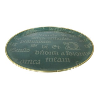 Vintage Decorative Script Tray For Sale