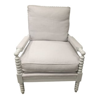 Serena and Lily White Beckett Chair For Sale