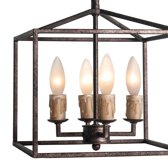 Cape Lantern Extra Small in Blackened Iron For Sale - Image 4 of 6