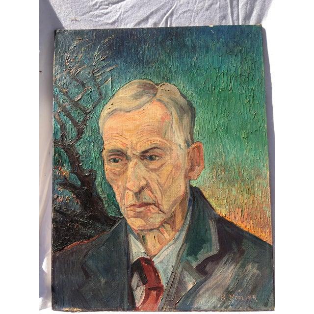 Mid-Century Portrait Painting - Image 2 of 4