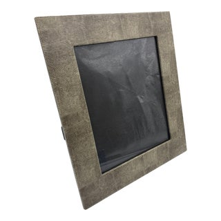 Grey Snakeskin 12 Inch by 14 Inch Photo Frame For Sale