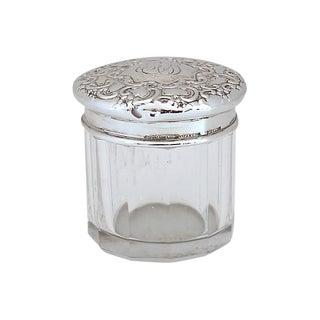 Vintage Tiffany & Co Sterling Silver Top Vanity Jar For Sale