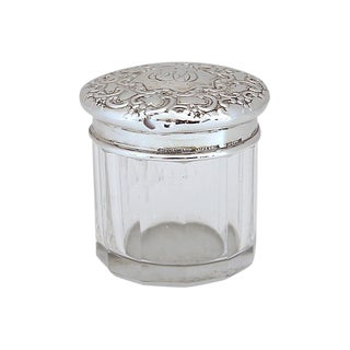 Vintage Tiffany & Co Sterling Silver Vanity Jar For Sale