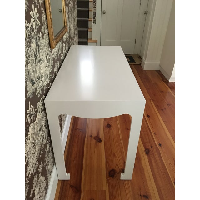 White Bungalow 5 Jordan White Console/Desk For Sale - Image 8 of 8