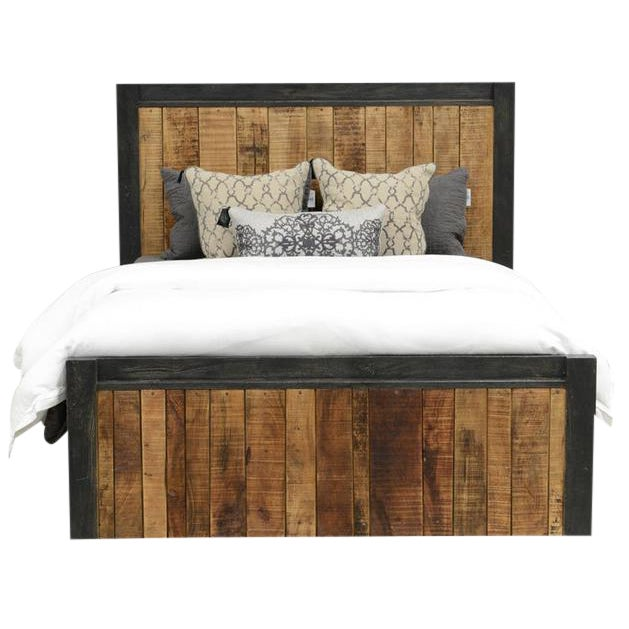 Reclaimed Wood Panel Eastern King Bed - Image 1 of 3