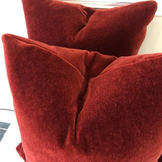 "Brick Red Mohair 22"" Pillows-A Pair Preview"