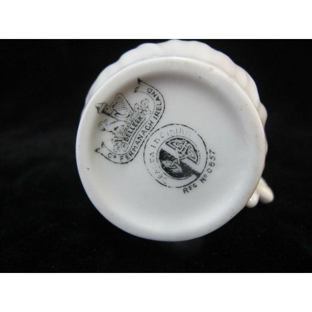 Belleek Vintage Black Mark Creamer Pitcher With Lily Design For Sale In Portland, OR - Image 6 of 7