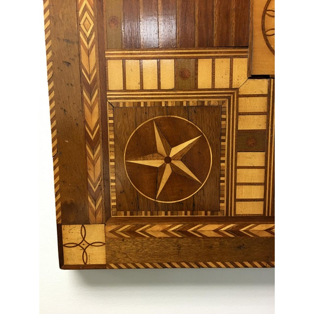Antique 19th C. Inlaid Wooden Game Board - Image 2 of 9