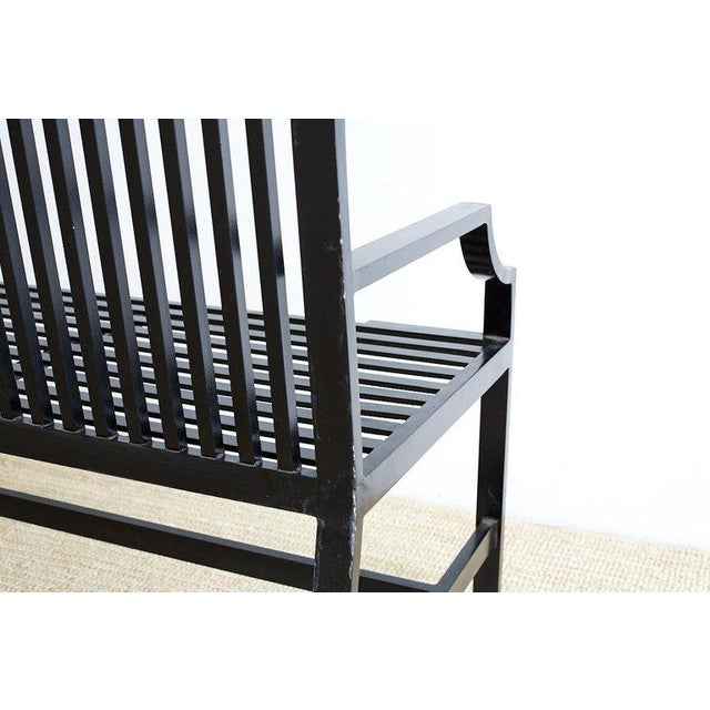 Contemporary Aluminum Park Bench or Settle For Sale - Image 9 of 13