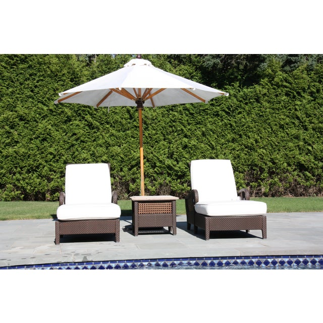 Century Denpasar Articulating Chaises - Pair With Side Table - Image 2 of 5