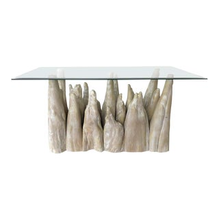 Brutalist Cypress Knee Organic Modern Console Table For Sale