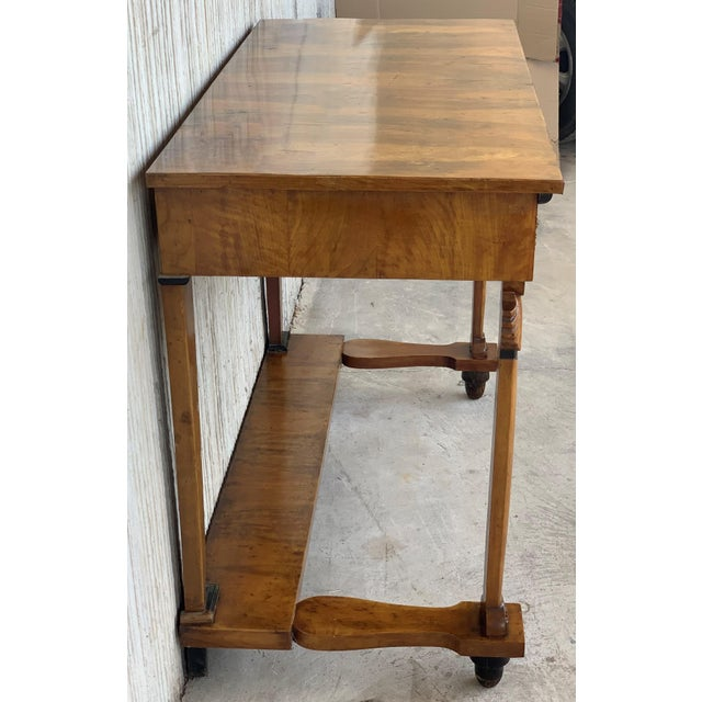 Antique French Empire Fruitwood Console Table With Drawer, Early 19th Century For Sale In Miami - Image 6 of 10