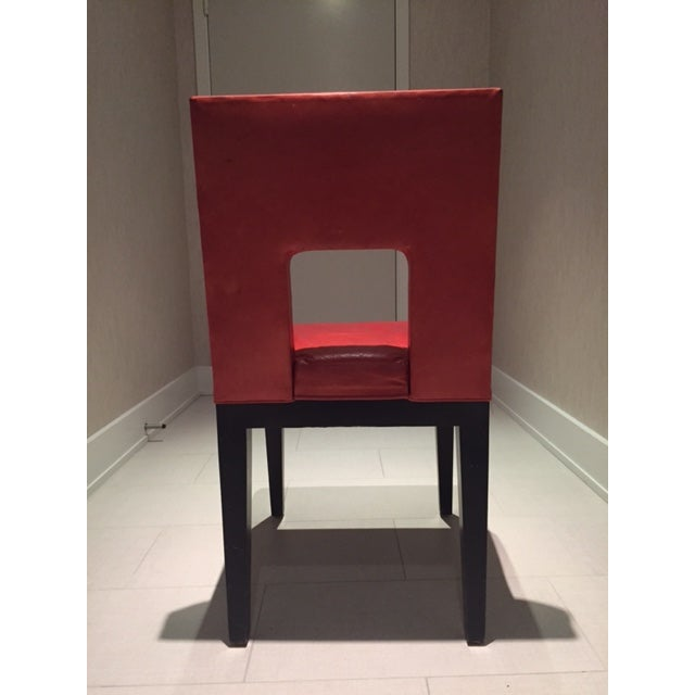 Red Custom Made Dining Chairs - Set of 6 - Image 8 of 8