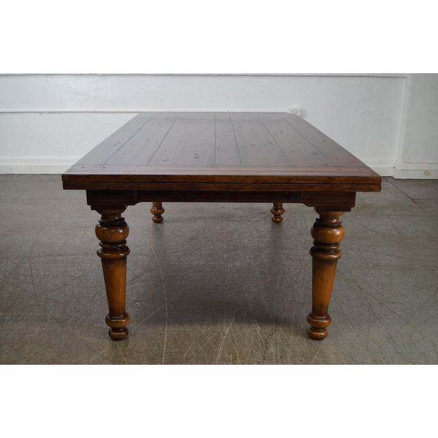 Rustic Farmhouse Style Refractory Dining Table - Image 3 of 10