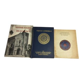 Vintage Cathedrals of France Books - Set of 3