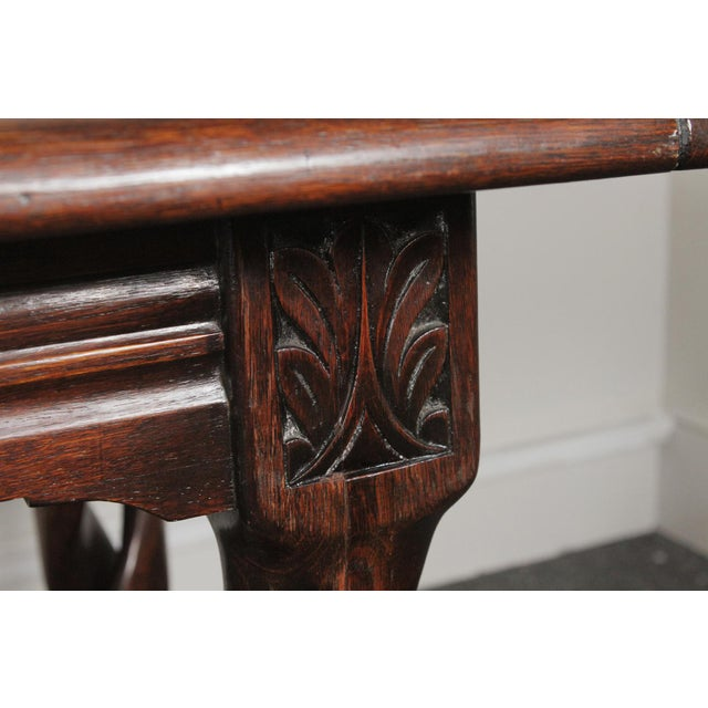 1900s Gothic Oak Console Table For Sale In Philadelphia - Image 6 of 13