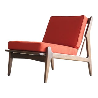 Danish Midcentury Lounge or Slipper Chair by Ib Kofod-Larsen